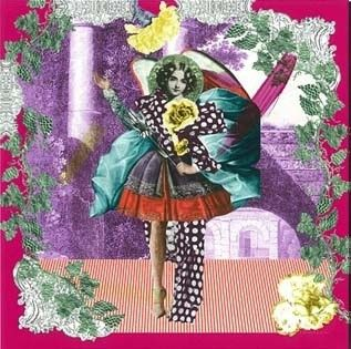 "Foulard Christian Lacroix ""Collage"""