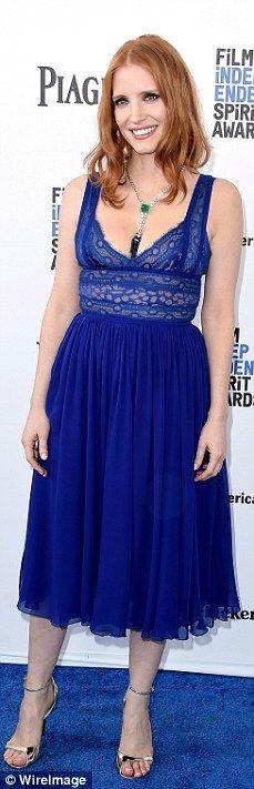 Bringing the color: Rachel McAdams, Jessica Biel, Cate Blanchett and Jessica Chastain brig...