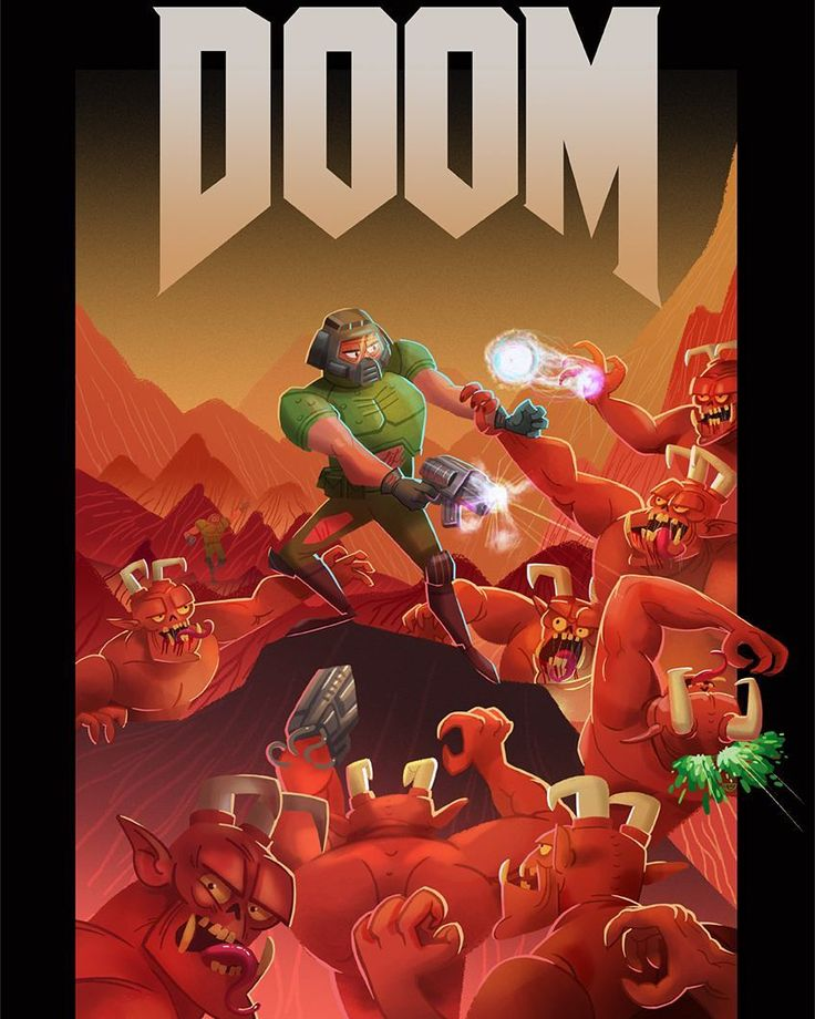Amazing Doom illustration by @agent.melon! . . . . . . #doom #doomguy #game #gaming #bethesda #idsoftware #demons #hell #awesome #art #shooter #fps #insta #instagram #igdaily #classic #retro by doom_fans