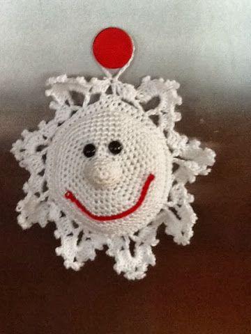 Woolverina: Gehäkelte Schneeflocke   Weihnachten   Pinterest ...