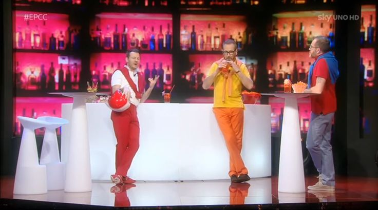 "Alessandro Cattelan and Marco Giallini during an episode of ""E poi c'è Cattelan"""