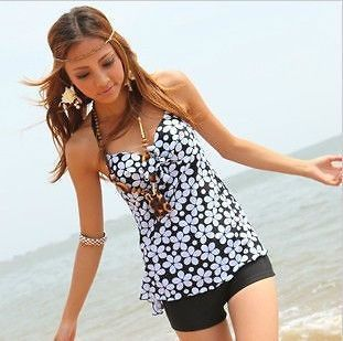 Modest tankini with shorts