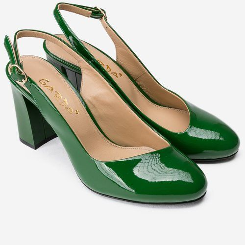 Pantofi verzi din piele naturala Yanick