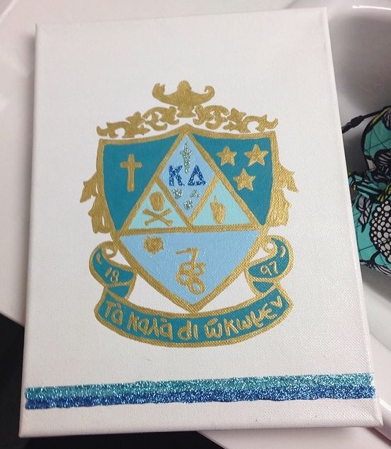 kappa delta crest canvas - would be tri delta of course