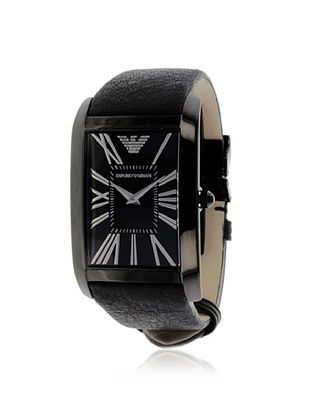 Emporio Armani Men's AR2060 Black Leather Watch
