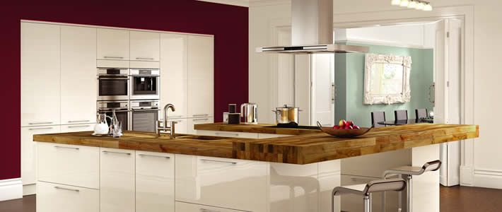 To-Order Kitchens - Wickes - like the gloss and handles
