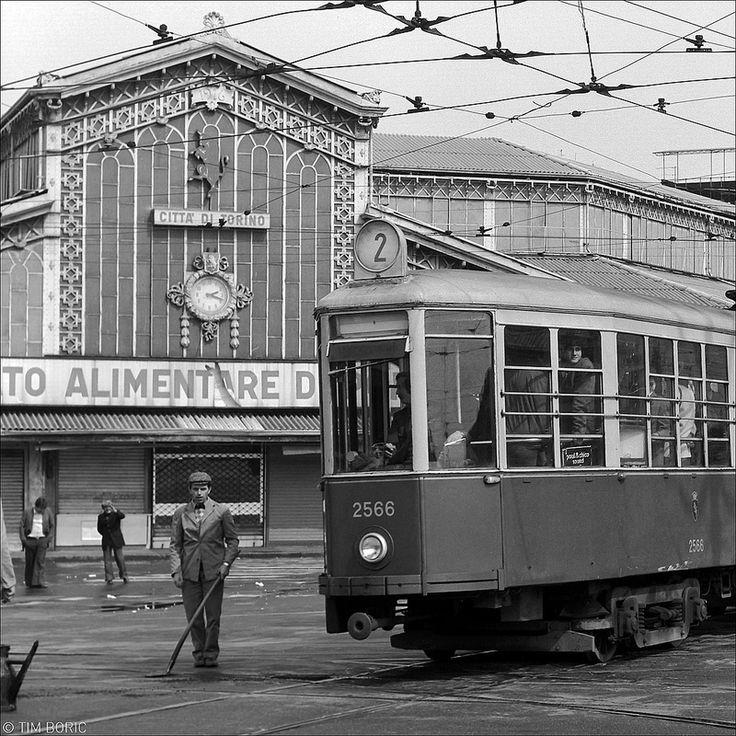 City scene Torino 1977