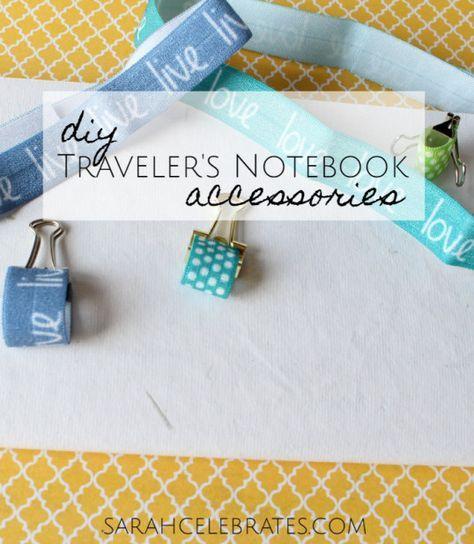 Pen loop. DIY Travelers Notebook Accessories   Sarah Celebrates