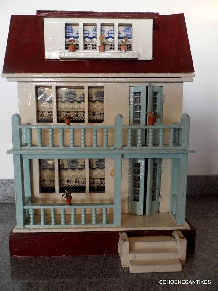 schönes altes Puppenhaus Manufaktur original um 1900