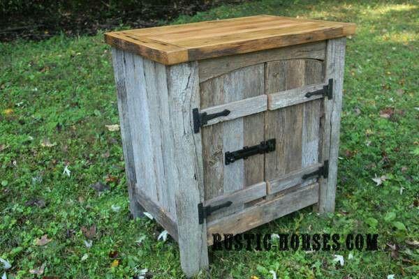 Reclaimed rustic pallet barn wood aquarium fish tank stand