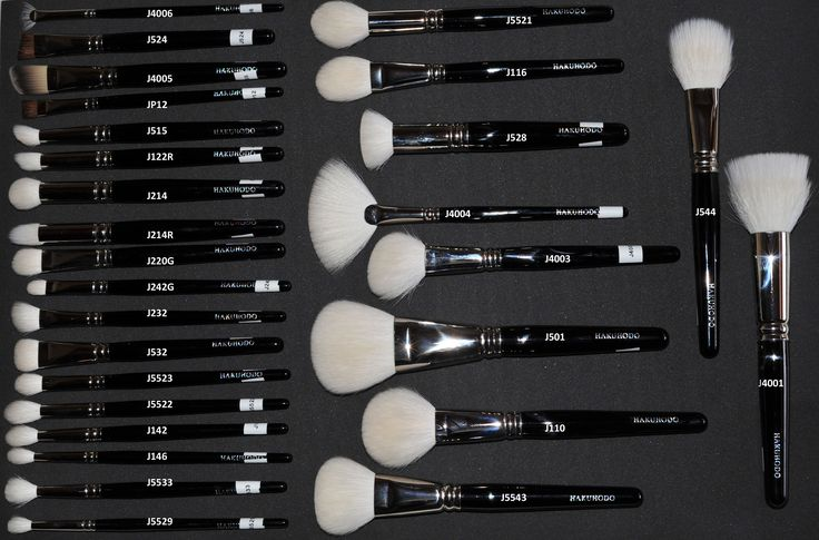 Hakuhodo brushes J series collection. These brushes are pricey, but worth every penny if you want high quality brushes. They are so perfect! <3