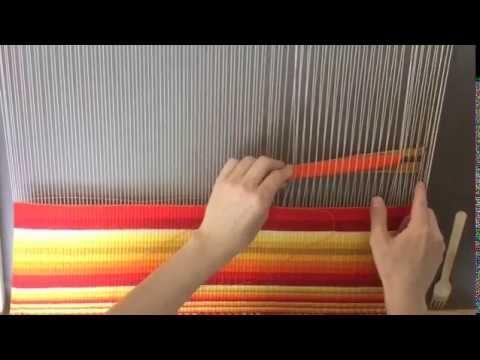 Weaving loom Sunrise project - YouTube