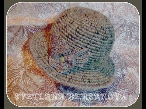 ▶ Теплая шляпка крючком. Часть 1 - донышко .Crochet hat with fields - YouTube