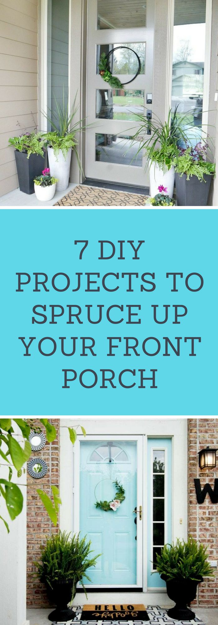 DIY--7 DIY Projects to Spruce Up Your Front Porch--The Organized Mom