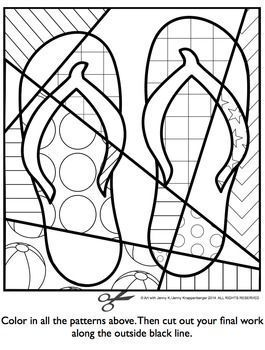 Summer Activities Free - Interactive Coloring Sheet -also great for end of the year activities.