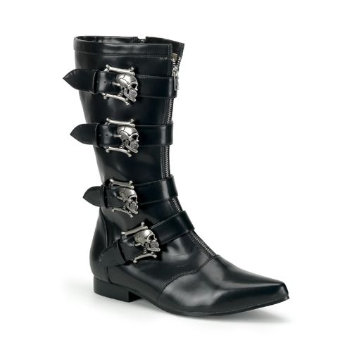 Awesome Footwear, Boots & Shoes BROGUE-107, Winklepicker Beatle boot W/ Skull Buckles just added...