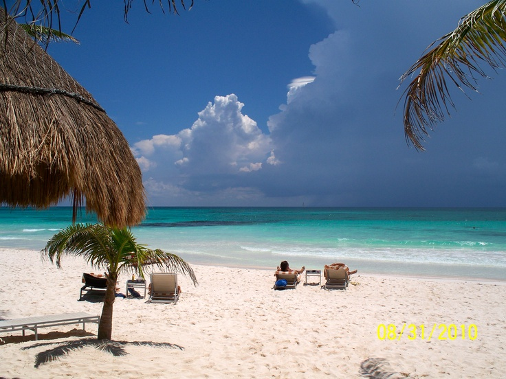 Our beach at the Catalonia Royal Tulum. Paradise on Earth.
