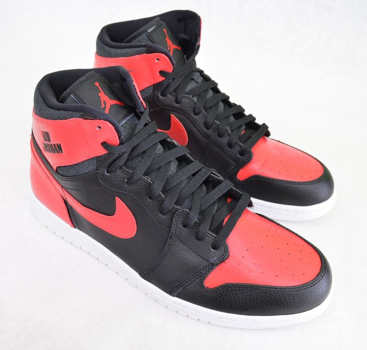 These custom hand painted Jordan AJ 1 High Sneakers have been painted with Black and Varsity Red. Made in the USA. This price includes shoes+artwork When ordering please provide in the note at checkou