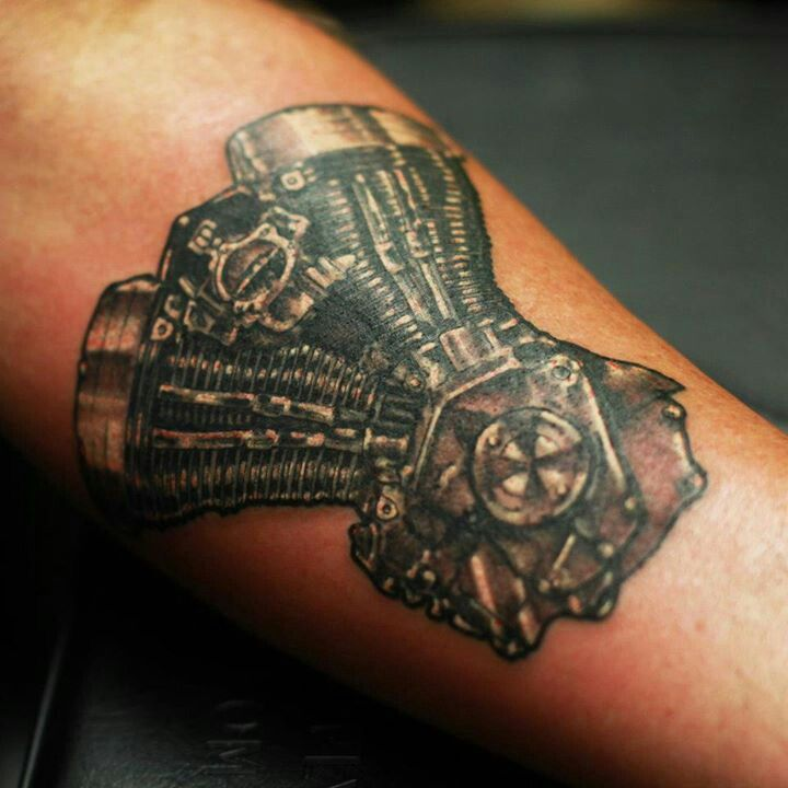 Harley Engine Tattoo