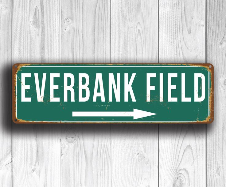 EVERBANK FIELD Sign, Vintage style Everbank Field Sign, Jacksonville Jaguars, NFL Signs, Football Gifts, Jaguars Gifts, Jaguars Signs by FanZoneSigns on Etsy https://www.etsy.com/listing/271475186/everbank-field-sign-vintage-style