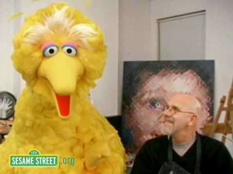 Big Bird and Chuck Close, great to introduce Chuck to elementary (1:02)