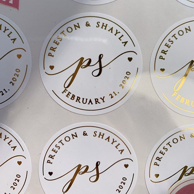 Gold Wedding Stickers Foil Wedding Labels Rose Gold Favor Etsy In 2020 Wedding Stickers Custom Wedding Stickers Wedding Labels