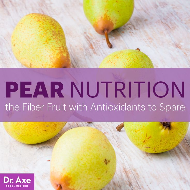 Pear nutrition - Dr. Axe http://www.draxe.com #health #holistic #natural