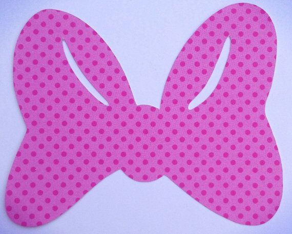 Minnie mouse bow template minnie mouse bows pink polka for Free printable minnie mouse bow template