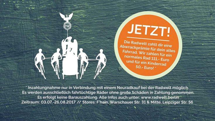 Fahrrad in Zahlung geben & bis zu 111,- € Abwrackprämie erhalten ▷ Fahrrad Inzahlungnahme bei Neuradkauf ➥ Radwelt Berlin berät dich ✓