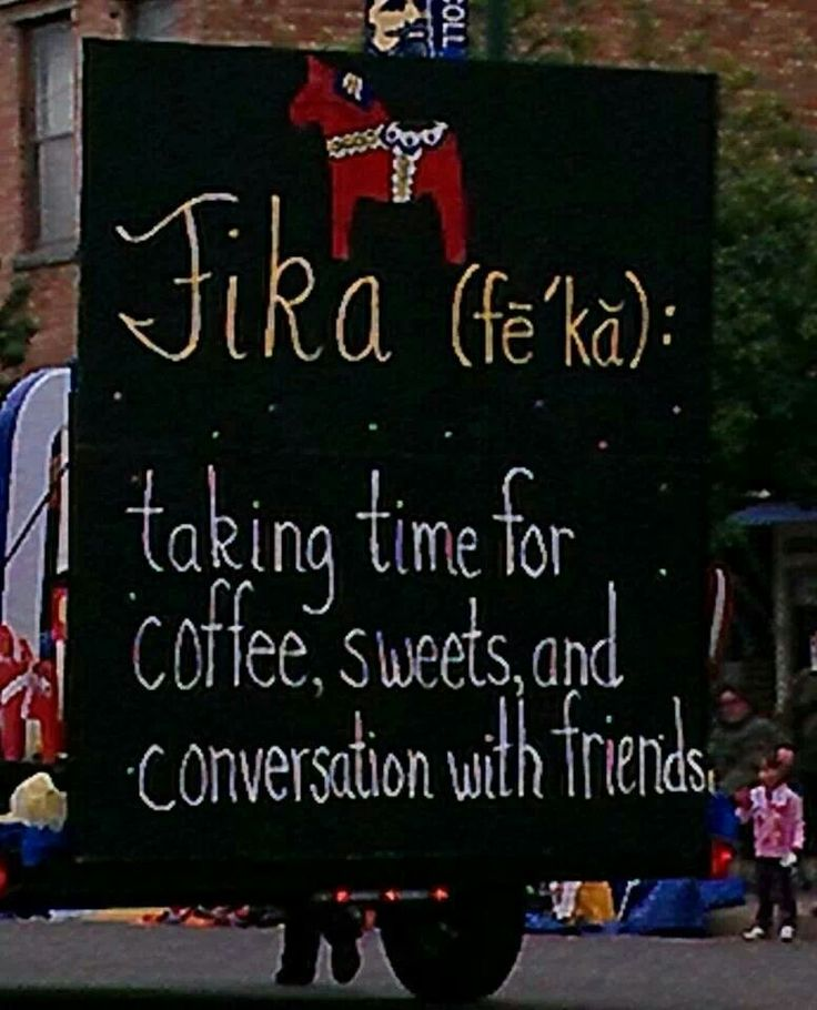 We love the Swedish idea of Fika: a break from work for coffee and cake.