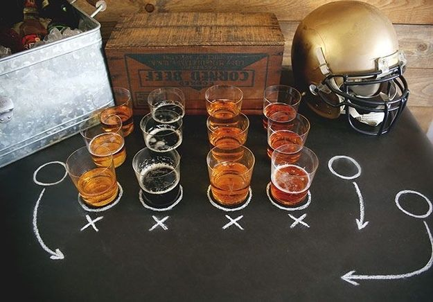 31 Genius Super Bowl Party Hacks That Will Make Your Life Easier: Set up your own beer tasting.