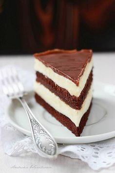 Ciasto Milka (krem i polewa- z połowy porcji-za słodko)