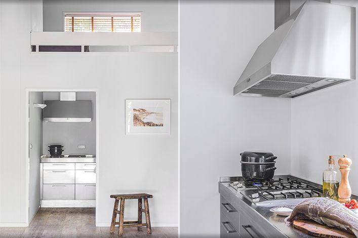 Summerhouse RVS kitchen, design Babs Appels