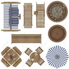 landscaping furniture plan view - Google Search
