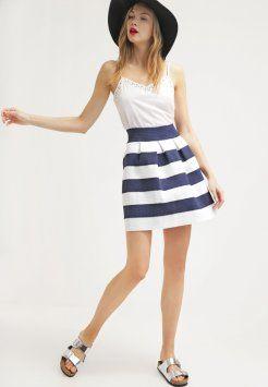 Nümph - SALLY - Pleated skirt - medivial blue / cloud dancer
