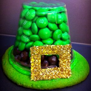 You'll sure be lucky this St. Patrick's Day if you get to make Lucky Chocolate Hats. These yummy kids' St. Patrick's Day crafts are made from M & Ms and cookies!