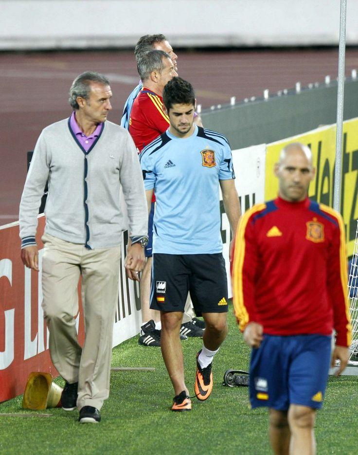 Isco se retira lesionado de un entrenamiento en Helsinki en 2013 #seleccionespanola #LaRoja #diariodelaroja