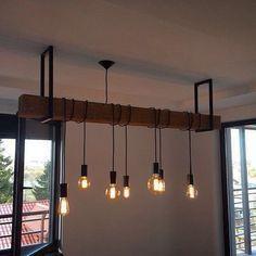 Idée de suspension avec poutre et luminaires style industriel                                                                                                                                                                                 Plus