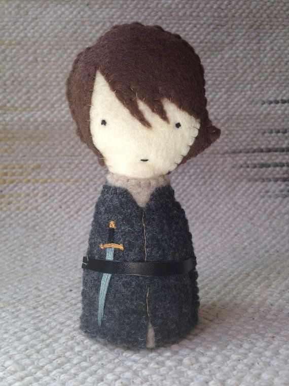 Arya Stark Felt Figure  Game of Theones / Song of by ThomasAndJohn, $17.00