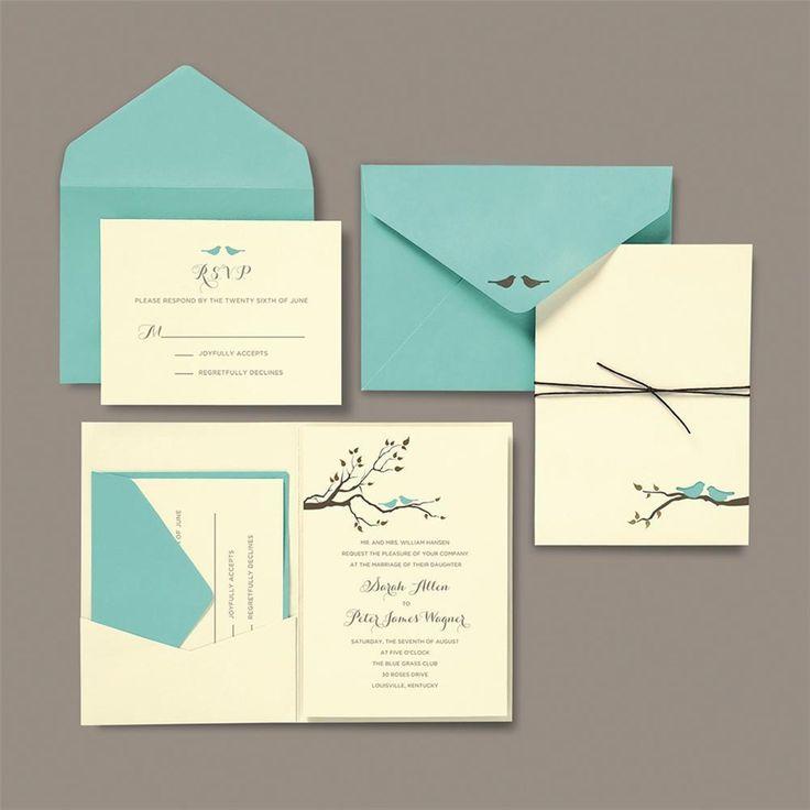 BRIDES® Love Birds Pocket Invite