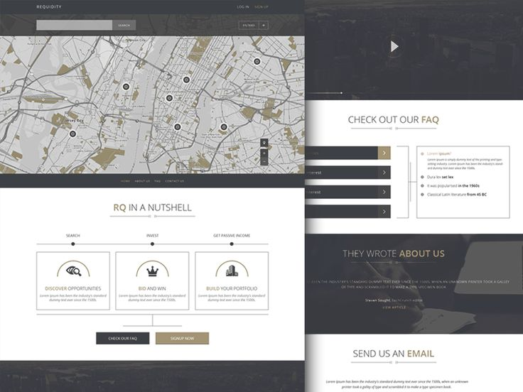 REQUIDITY - Homepage concept by Robert Berki for Clevertech
