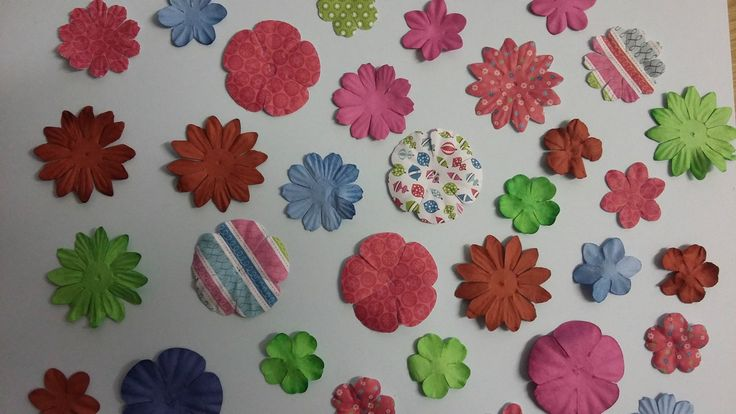 100 Mulberry Paper Flowers Mixed Blooms Flower Heads Embellishments | eBay