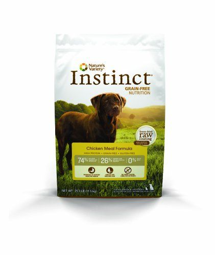 Instinct Grain-Free Chicken Meal Dry Dog Food by Nature's Variety 25.3 lb Bag Nature's Variety http://smile.amazon.com/dp/B00J12E4KK/ref=cm_sw_r_pi_dp_BWX0ub1NPCKQA