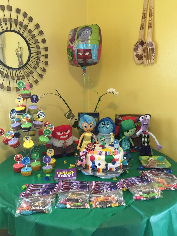disney inside out party ideas th birthday birthday party ideas party themes disney s sponge bob topiaries candy bars