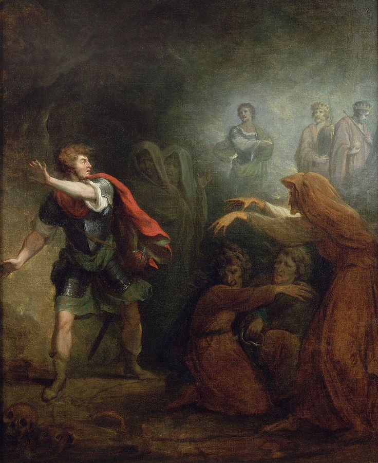 George Romney - Macbeth and the witches (1785) | George ...