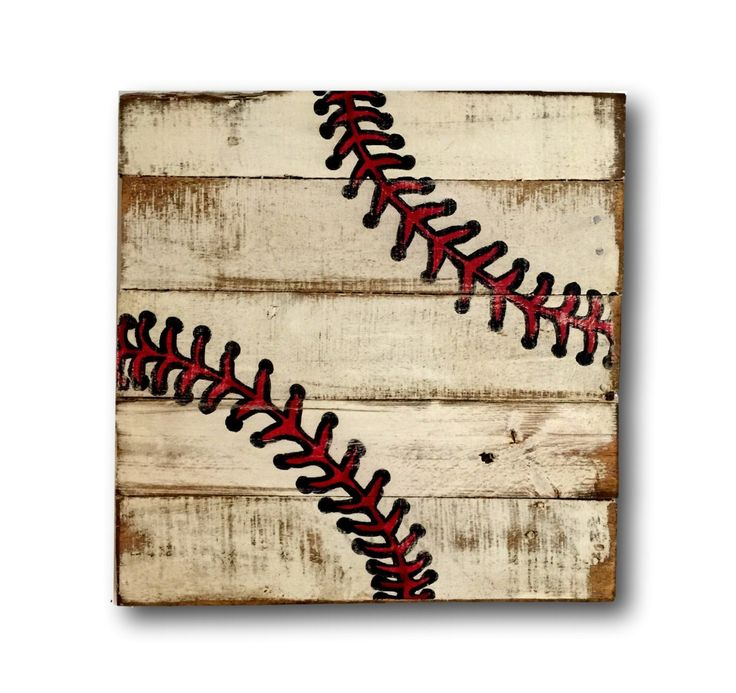 Baseball Wall Art / Sports Decor/ Rustic Vintage Baseball Sign by PalletsandPaint on Etsy https://www.etsy.com/listing/251142719/baseball-wall-art-sports-decor-rustic
