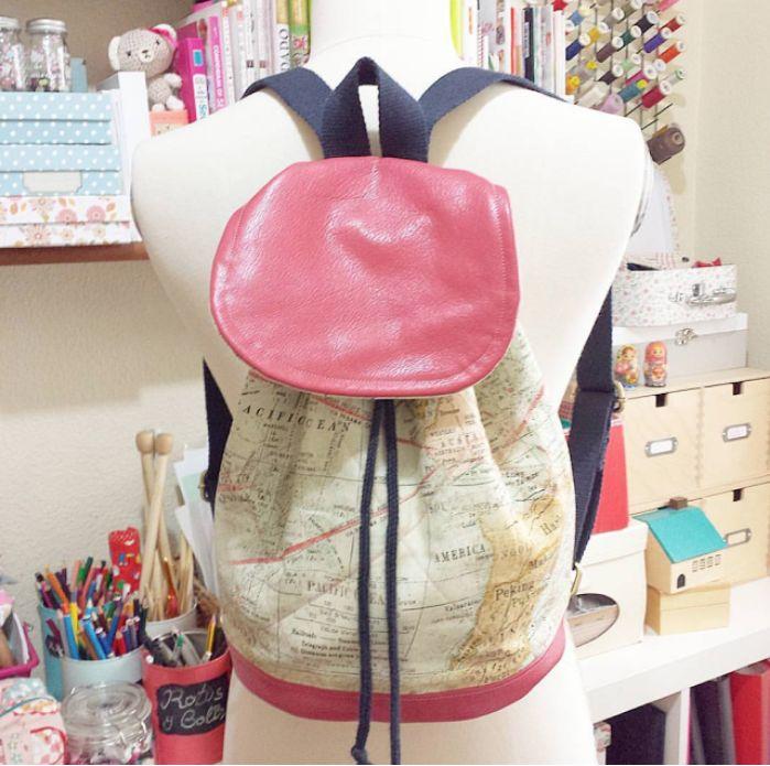 DIY Como coser una mochila con patrones gratuitos y video tutorial paso a paso para realizarlo. Nunca fue tán fácil hacerte una mochila!!!