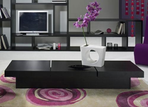 Moderne attraktive Couchtische fürs Wohnzimmer – 50 coole Bilder - trendy eigenartige kaffeetische schwarz lang