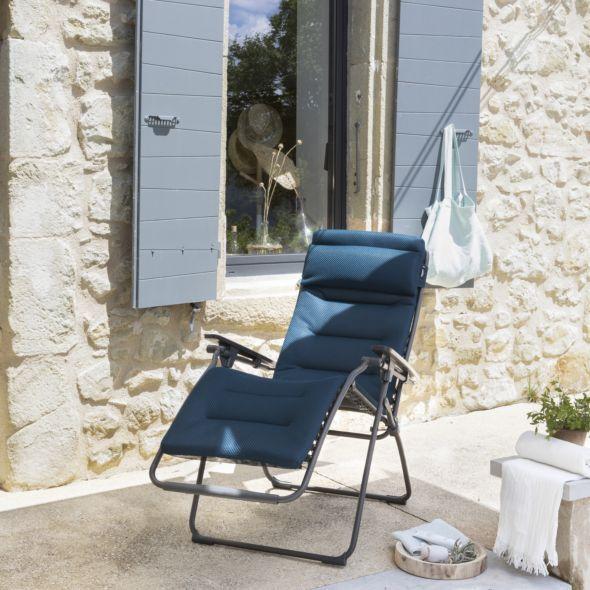 Fauteuil Relax Lafuma Futura Be Comfort Bleu Encre Outdoor Chairs Outdoor Decor Relax