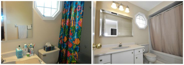 In this main bathroom we replaced the mirror and shower ...